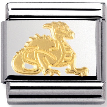 Nomination Charm Gold Dragon