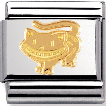 Nomination Charm Gold Cheshire-Cat