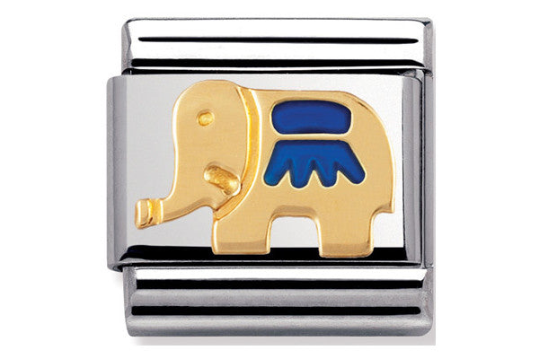 Nomination Charm Enamel Blue Elephant