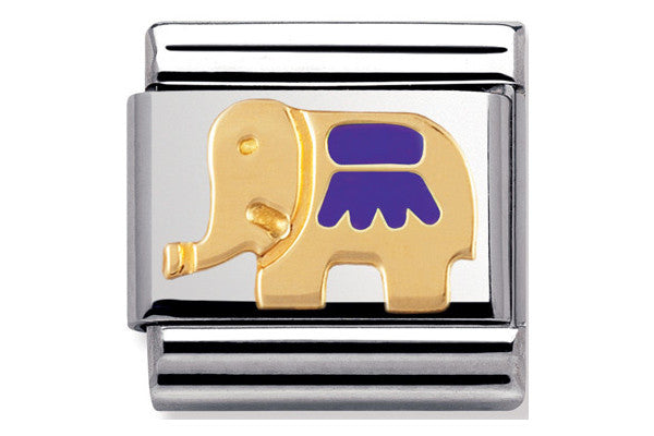 Nomination Charm Enamel Purple Elephant