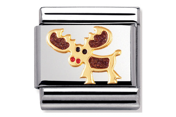 Nomination Charm Enamel Moose