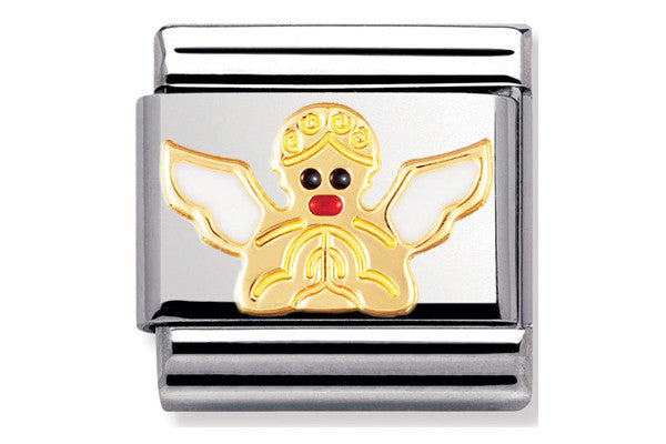 Nomination Charm Enamel White Angel