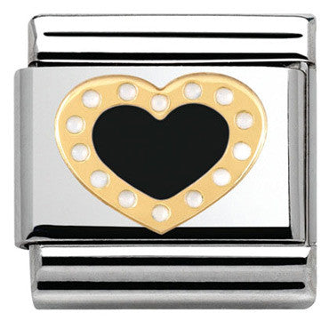 Nomination Black Heart Charm