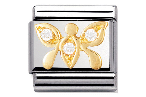 Nomination Charm Cz White Butterfly