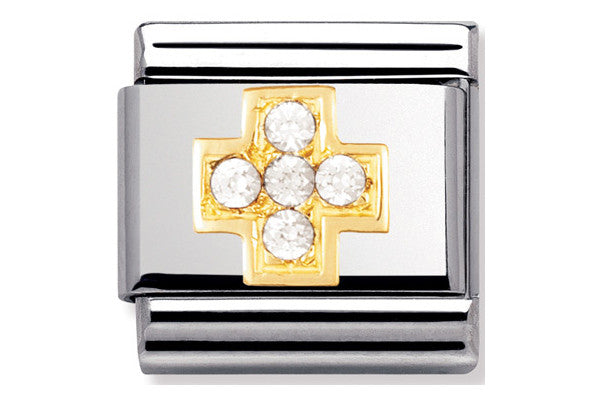 Nomination Charm White Cross