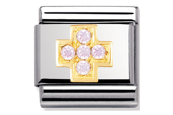 Nomination Charm Pink Cross