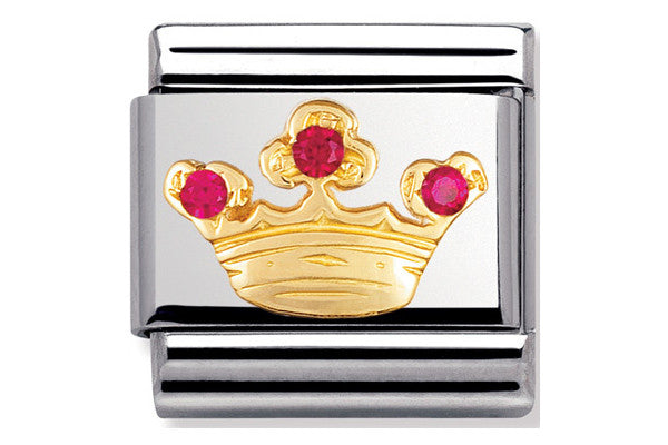 Nomination Charm Red Queens Crown