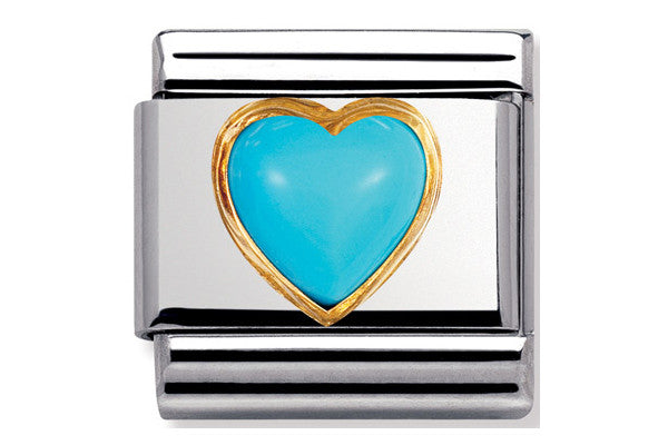 Nomination Charm Turquoise Heart