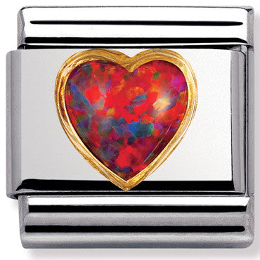 Nomination Charm Red Opal Heart