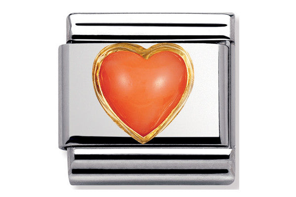 Nomination Charm Pink Coral Heart