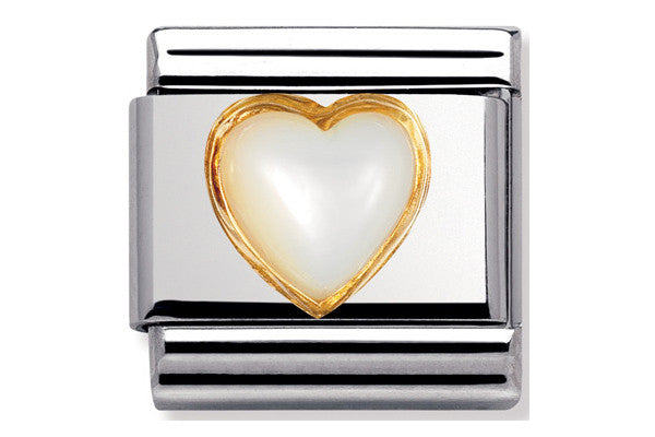 Nomination Charm Mother Of Pearl Heart