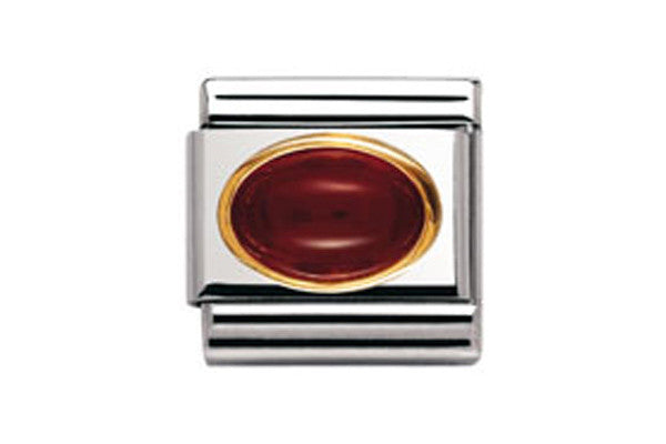 Nomination Charm Oval Red Agate