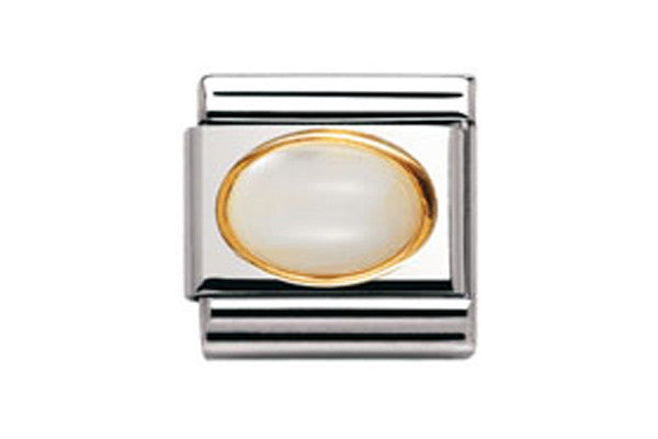 Nomination Charm Oval Mother Of Pearl