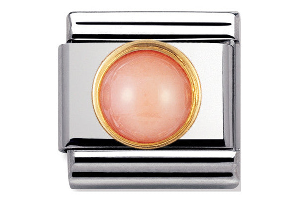 Nomination Charm Round Pink Coral