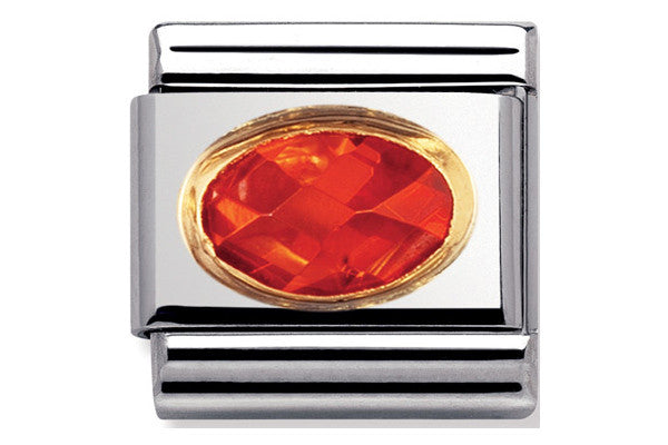 Nomination Charm Orange Faceted Cubic Zirconia