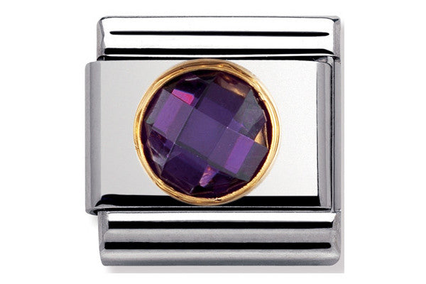 Nomination Charm Violet Faceted Cubic Zirconia