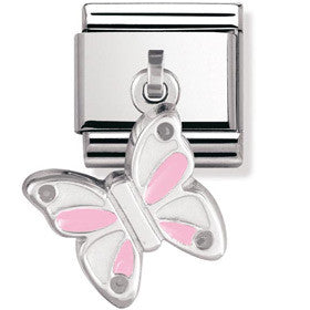 Nomination Charm Silver Butterfly