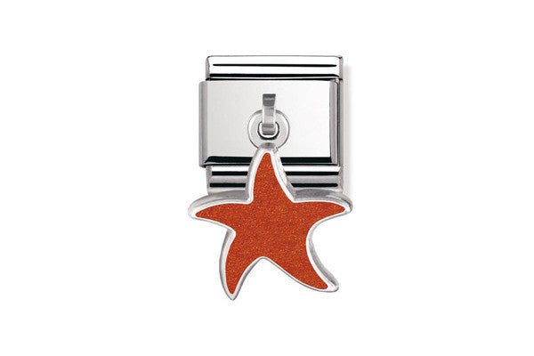 Nomination Charm Red Starfish