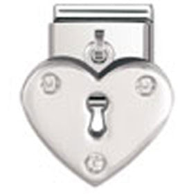 Nomination Charm Heart And Cz Pendant