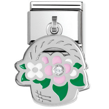 Nomination Basket Of Flowers Charm