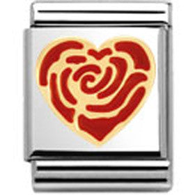 Nomination Red Rose Heart Charm Big