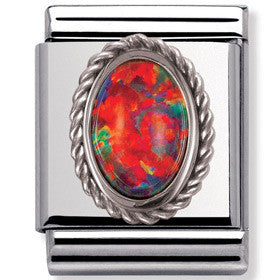 Nomination Charm Fire Opal Big