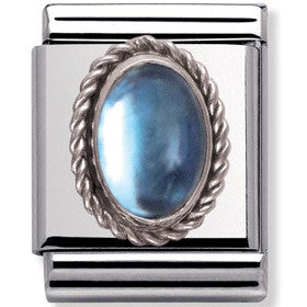 Nomination Charm Light Blue Topaz Twist