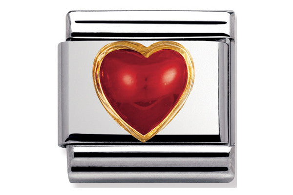 Nomination Charm Red Coral Heart