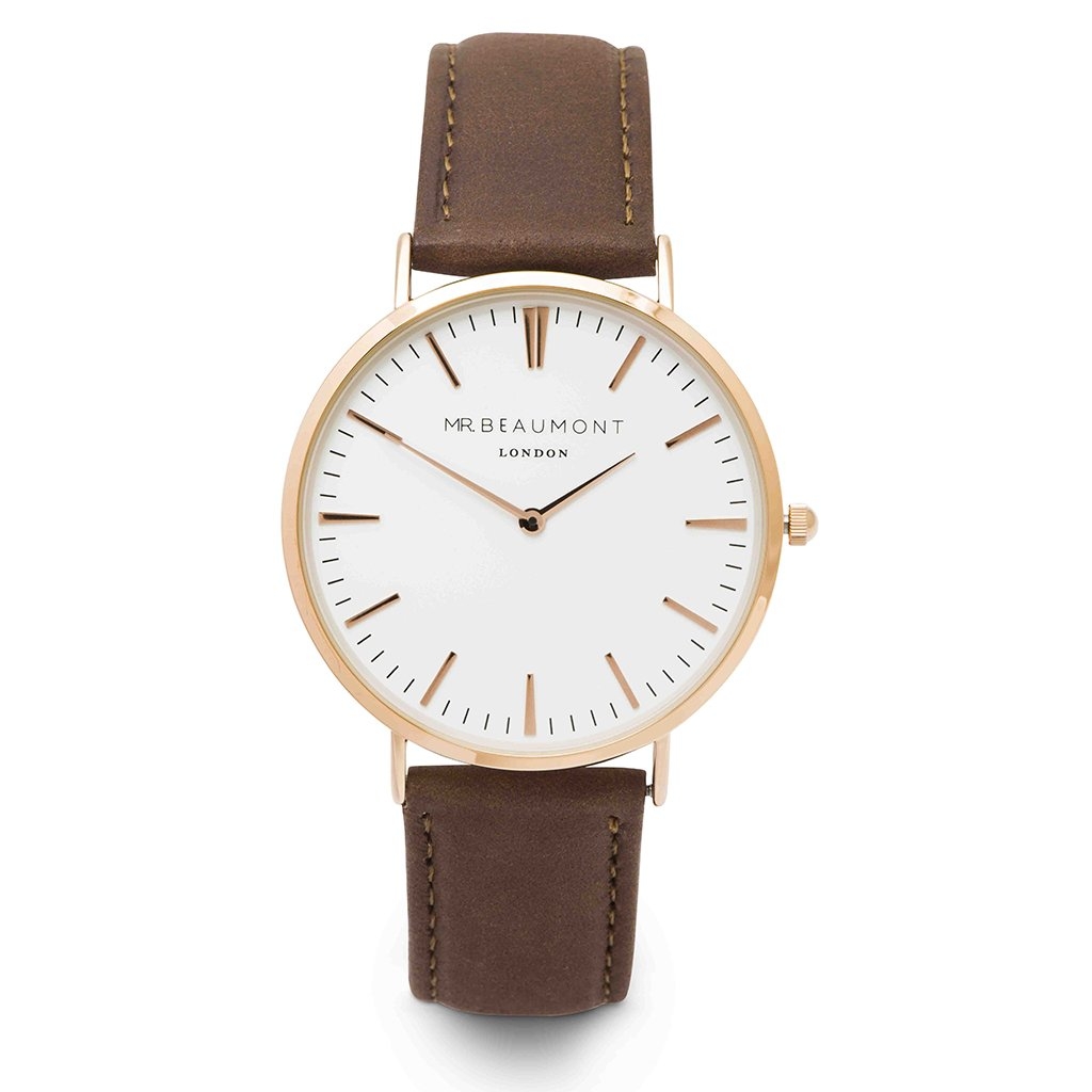 Elie Beaumont Mr Beaumont Leather Brown/Rosegold Watch