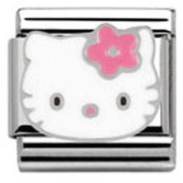 Nomination Hello Kitty Pink Flower Charm