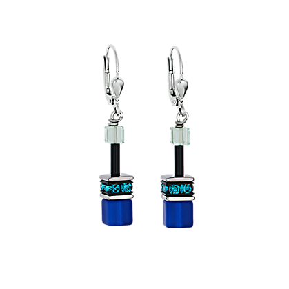 COEUR DE LION GeoCUBE Earrings Blue-Green
