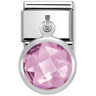 Nomination Charm Pink Faceted Pendant