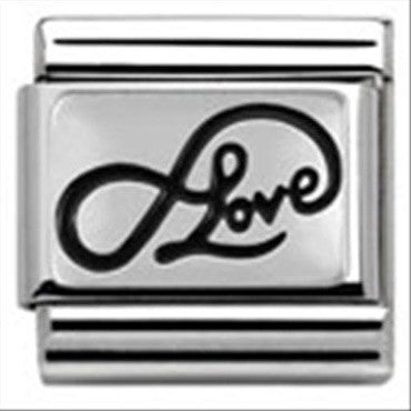 Nomination Oxidized Silver Infinate Love Charm 33010207