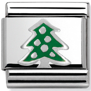 Nomination Charm Silver Christmas Tree