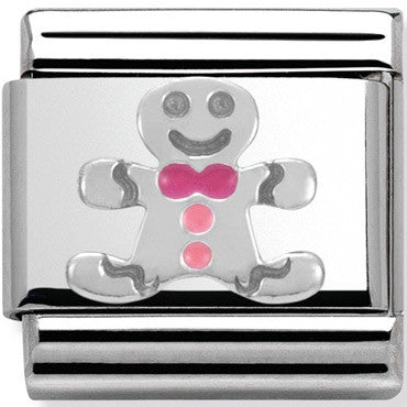 Nomination Charm Silver Gingerbread Man