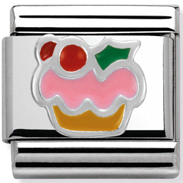 Nomination Charm Silver Cupcake
