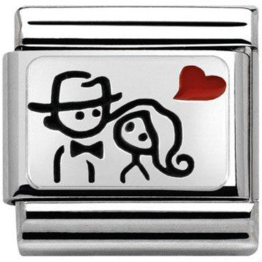 Nonination Silver Couple Charm