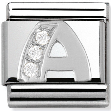 Nomination Charm Silver Cz Letter A Charm