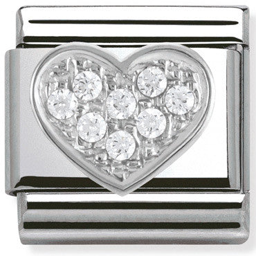 Nomination Charm Silver Cz Heart