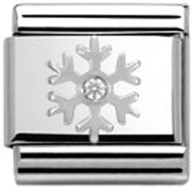 Nomination Charm White Snowflake