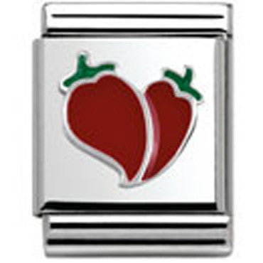 Nomination Silver Chilli Heart Charm Big