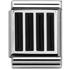 Nomination Black Grill Charm Big