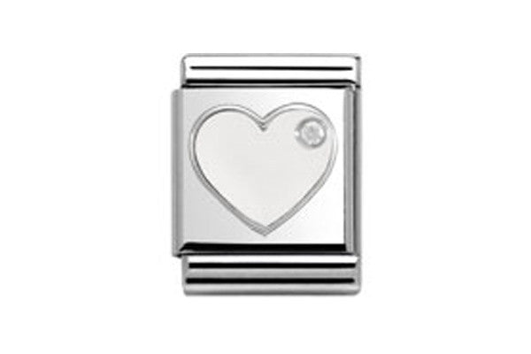 Nomination Heart Charm Big In White – Xen Jewellery Design 4ec1dca5753d