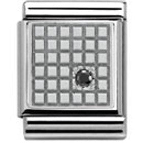 Nomination Silver Grid Charm Big