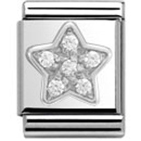 Nomination Silver Star Charm Big