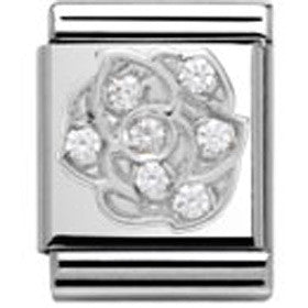 Nomination Silver Rose Charm Big