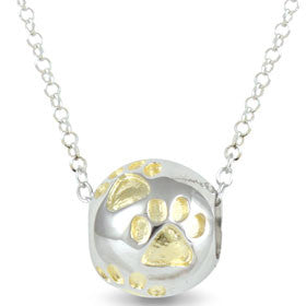 Sphere Of Life Cute Pendant 'Gold Paws'  love from your pet