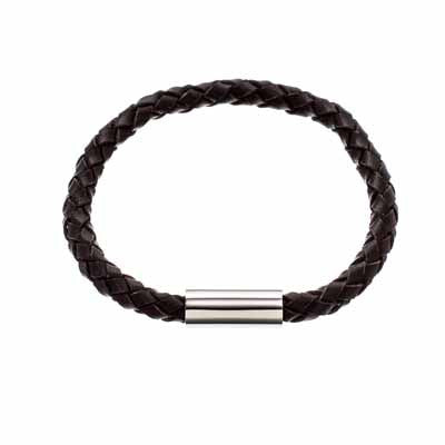 Edblad Isac Brown Leather Bracelet