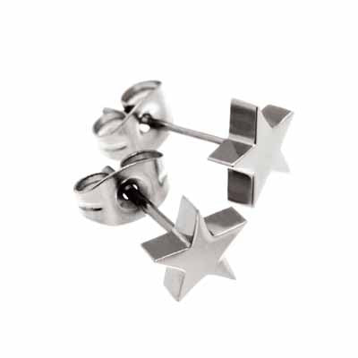 Edblad Star Small Steel Stud Earrings