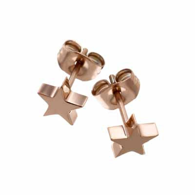 Edblad Star Small Rose Gold Stud Earrings